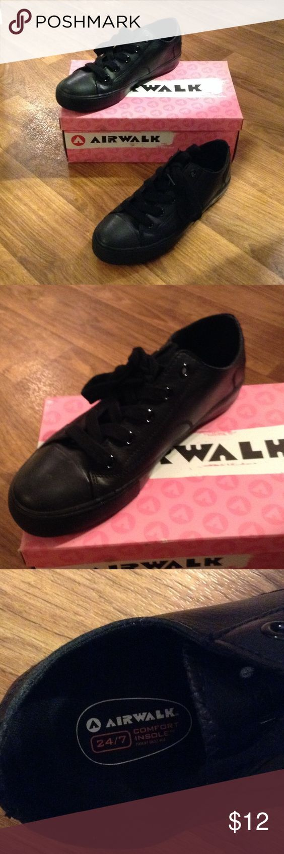 Non slip Converse looking shoe I have only worn these twice! When I had started a new job. That I needed them since they were non slip. They are comfortable! They are a really cute work shoe. Original box included if wanted. Airwalk Shoes Sneakers