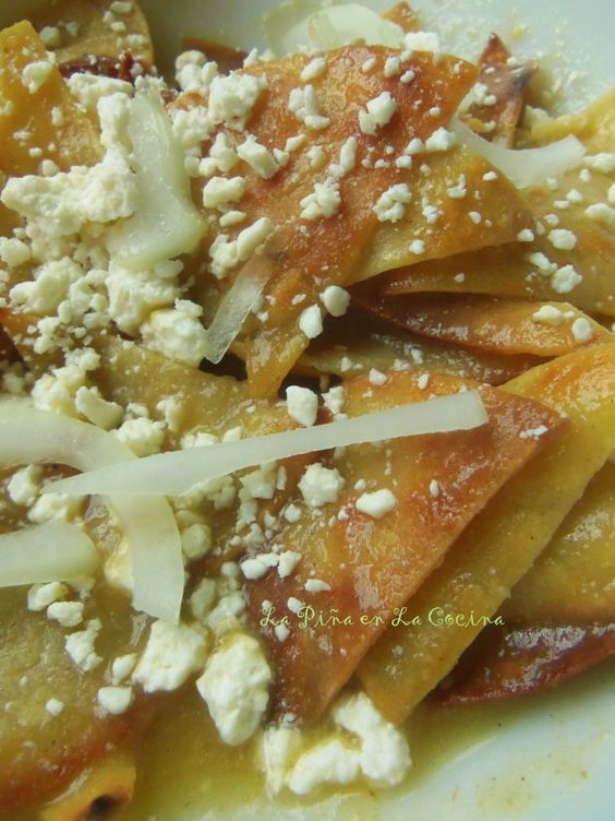 Chilaquiles With Tomatillo Salsa Recipe — Dishmaps