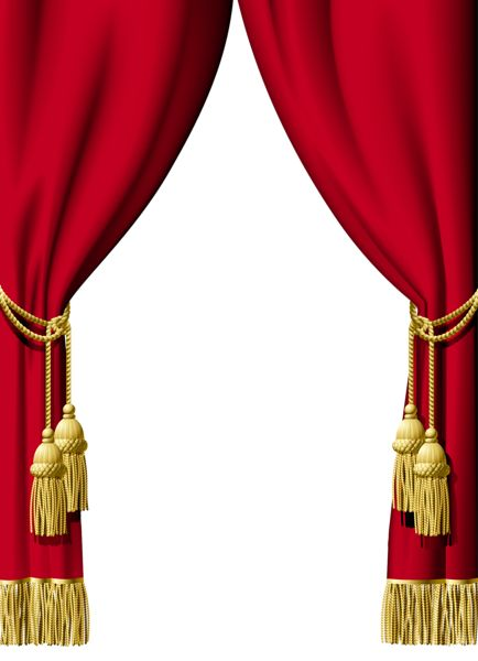 Red Curtain Decoration PNG Clipart | Decorative Elements PNG | Pinterest | Red curtains, Red and ...