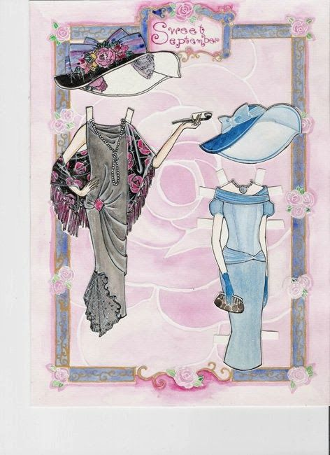 My Fair Lady?         Unfortunately I cannot recall what far corners of the internet I found this lovely paper doll set on!...