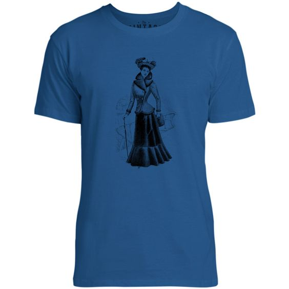 Mintage Victorian Style Mens Fine Jersey T-Shirt (Royal)
