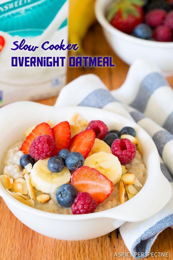 Cooker Overnight Oatmeal | Recipe | Overnight Oatmeal, Steel Cut Oats ...