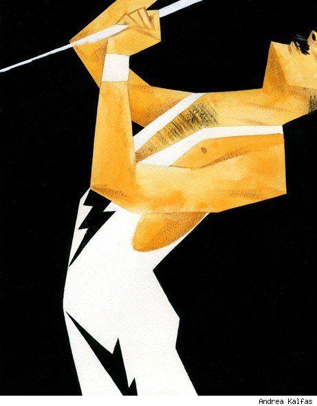 Freddie Mercury by Andrea Kalfas