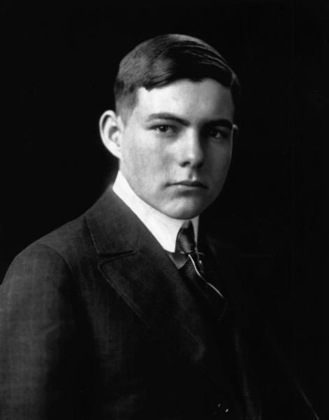 High School Photo of Ernest Hemingway