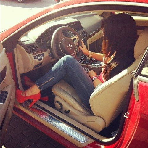 Girl Car Fashion Style Red Http Mycars Us My Cars