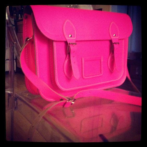 LOVE the new #neon pink satchel I scored on @Poshmark!