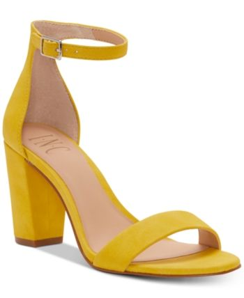 I.n.c. Kivah Two Piece Sandals, Created for Macy's Yellow