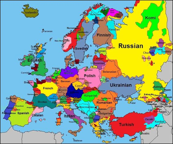 individual languages of europe History is alive – English Map of Europe