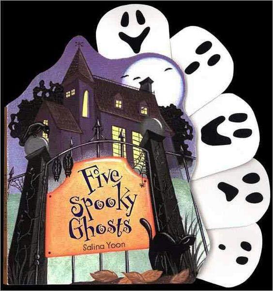 """Five Spooky Ghosts""  ***  Salina Yoon  (2005)"