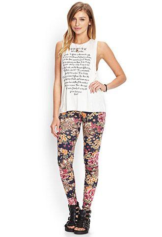 Inspired by Beth's floral leggings