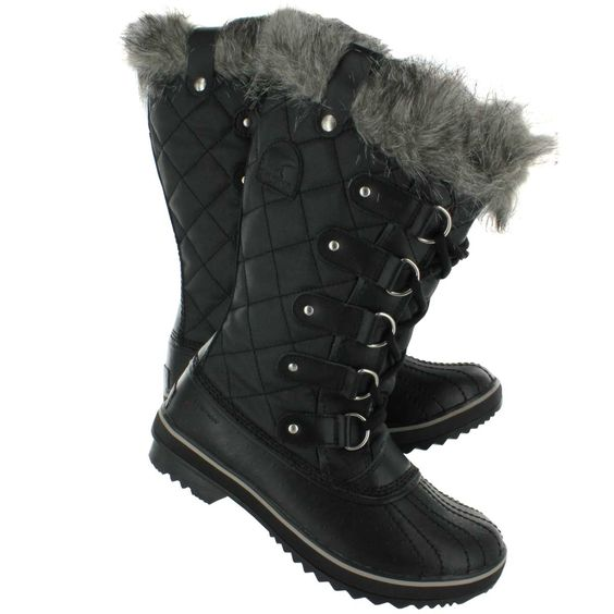 Ladies Winter Boots Clearance | Sorel Women's TOFINO CATE black ...