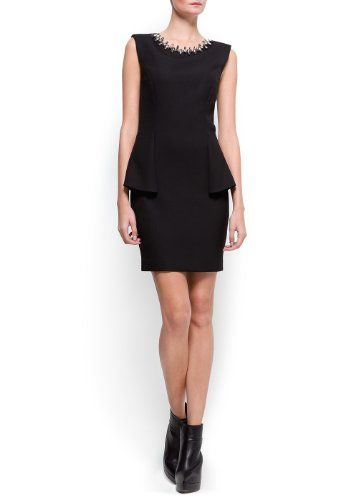 Women`s Crystals peplum dress $83.99