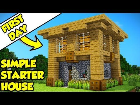 Minecraft Simple Survival Starter House Tutorial How To Build
