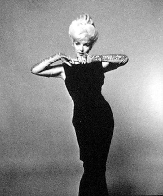 Bert stern marilyn monroe black dress