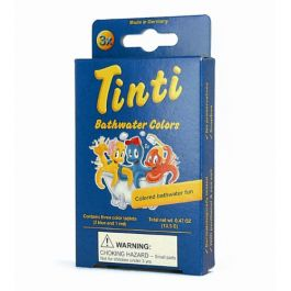 Tinti Natural Bathwater Colors. Bath tints for kids made in Germany with plant extracts and sea salt. Makes bath time fun and keeps it safe! www.bellalunatoys.com