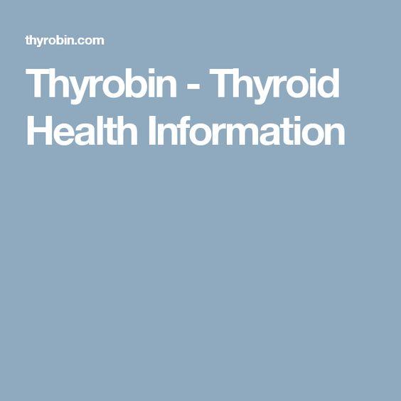 Thyrobin - Thyroid Health Information