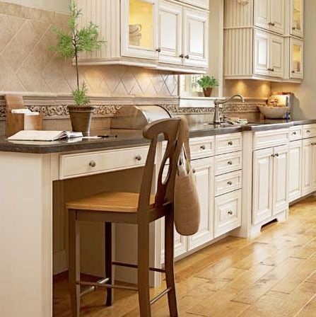 Counter Height For Built In Desk  Love It Or Leave The Builtin Kitchen Desk Beautiful Habitat  Ideas Pinterest Tables  H