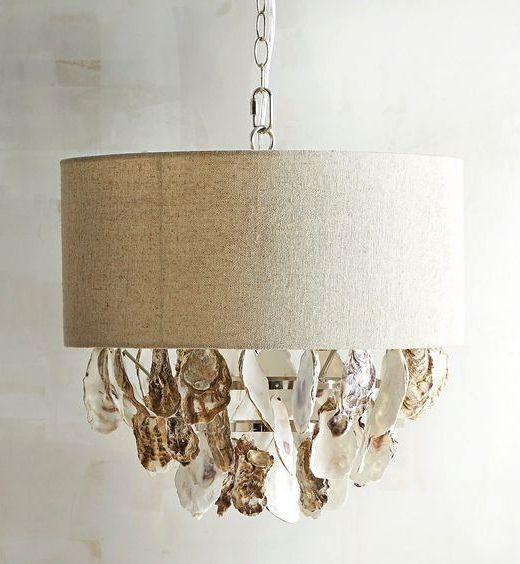 Oyster Shell Lampshade Pendant Lights Diy Shop Diy Pendant