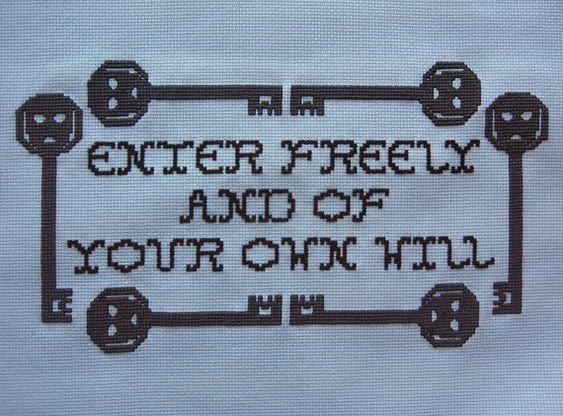 Dracula Quote Cross Stitch Sampler Pattern by GothicLitStitch