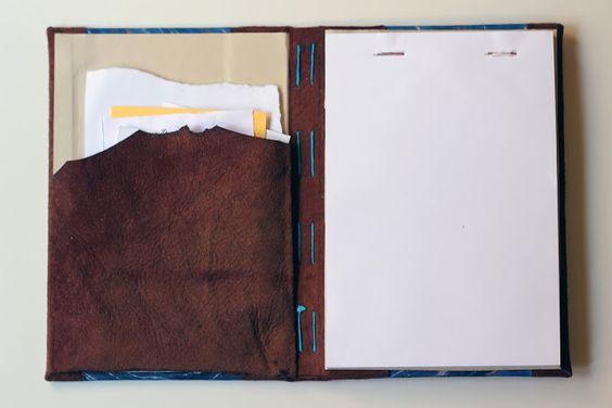 relligat: encuadernación y diseño: Funda de bloc de notas
