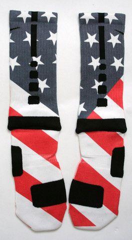 Nike Elite Crew - USA Flag- size medium 6/8 or large 8-12- prefer medium