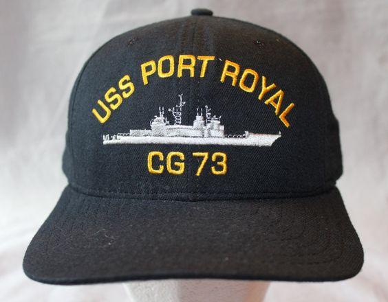 Vintage US Navy Snap Back Hat, USS Port Royal, by New Era by ilovevintagestuff on Etsy