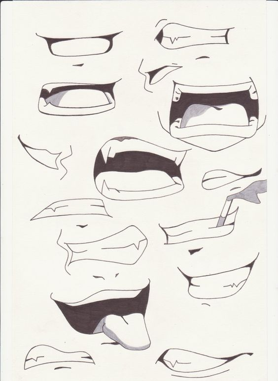 how to draw mouth and lips