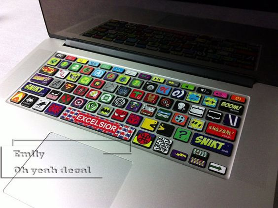 keyboard decal/Macbook decal/Macbook Pro Keyboard by ohyeahdecal  OMG these are cool! More designs in the store. Wish they didn't ship from China, but yeah...so cool!