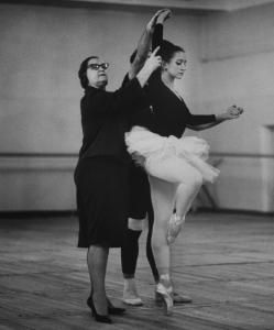 Marina Semyonova working with Natalia Bessmertnova in 1966.: