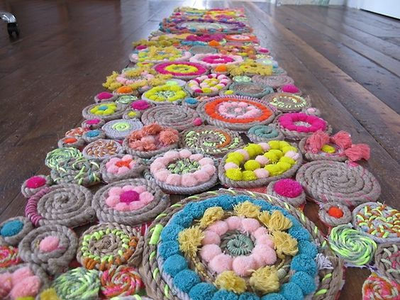 rug — scary and cool at once!: Wall Hanging, Rope Rug, Rope Swirl, Free People, Pom Pom