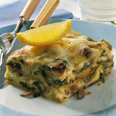 Pilz-Spinat-Lasagne