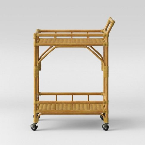 Cassia Rattan Bar Cart Opalhouse Rattan Bar Cart Small Table