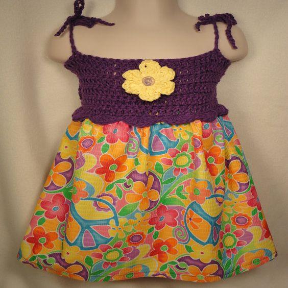 Girl's Crocheted Dress 3T/Summer Toddler Dress by EmbroideringNan