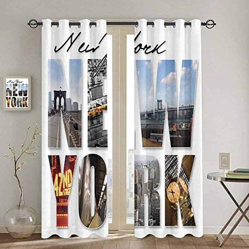S Ant Soundproof Curtains Nyc Decor New York Metropolis Themed Collage That Includes With T In 2020 Nyc Decor Curtains Decor