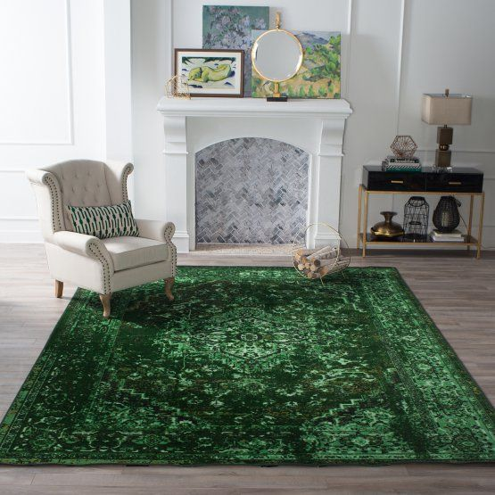 Decorating With Emerald Green Furniture Decor Complementary Colors Hayneedle Green Rug Bedroom Green Rug Living Room Rugs In Living Room #olive #green #living #room #rug