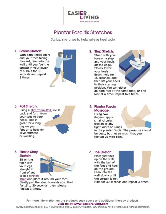Plantar Fasciitis Stretches, I liked the focus on the foot in these images, more hlepful than most of the full-length shots that you can't tell what they really want you to do with your foot
