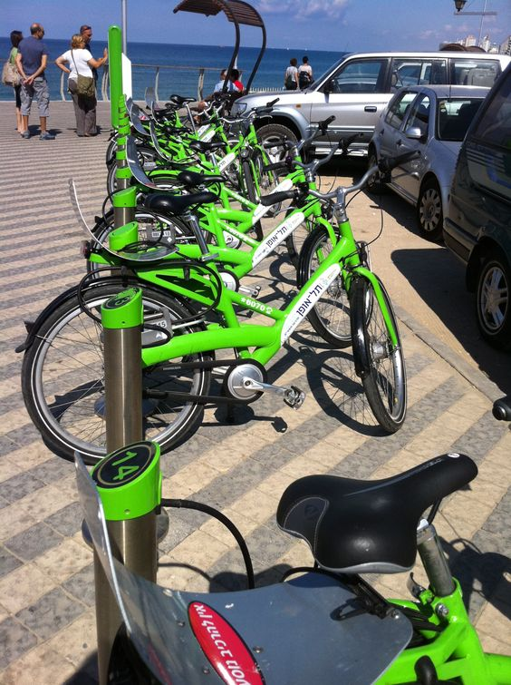 Tel Ofan, Tel Aviv's bike rental system with stations located all over the ciy.