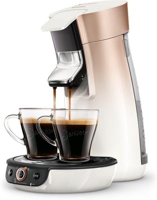 Philips Senseo Viva Cafe Duo Select Hd6566 30 Koffiepadapparaat Wit En Roze Koper Koffiezetapparaat Koffie En Wijndozen