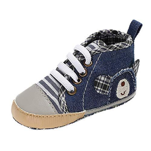 Foncircle Baby Boys Girl Newborn Infant First Walkers Canvas Denim Shoes Sneaker