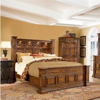Marbella Bedroom Group with Panel Bed
