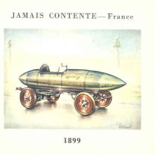 1899 Jamais Contente Jenatzy Record Car Cigarette Card