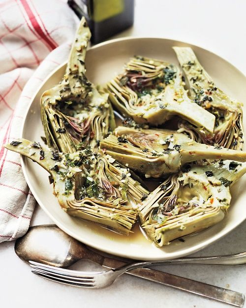 Roman-Style Artichokes - I will try these. I cannot forget the amazing artichokes in Rome and need to try to reproduce them.