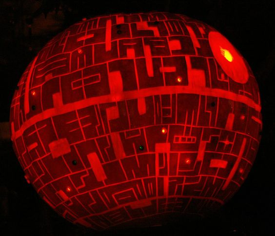 Carving the Death Star in a Pumpkin