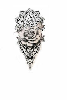 White Background Tattoo For Man And Woman Tattoos For Guys Rose