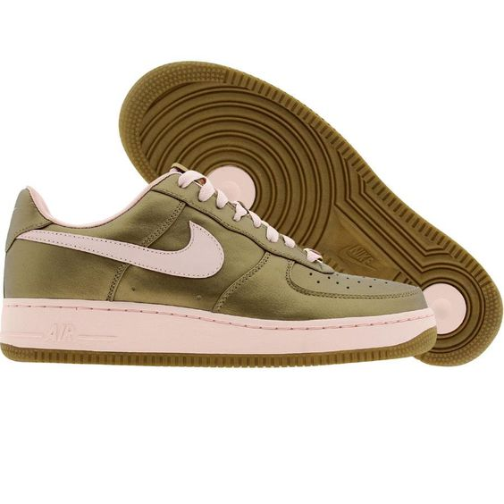 Nike Womens Air Force 1 07 Low Premium (metallic gold / aluminum pink) 315186
