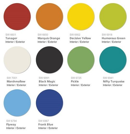 Sherwin williams 2015 color forecast unrestrained swatch for Williams interior designs inc