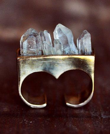 Pamela Love double finger crystal ring