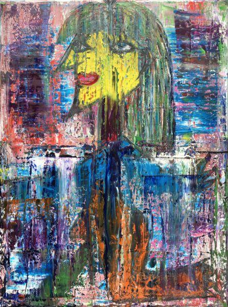 Ölmalerei - Abstract oil painting - RM 804 - 16 - ein Designerstück von RMocellin bei DaWanda