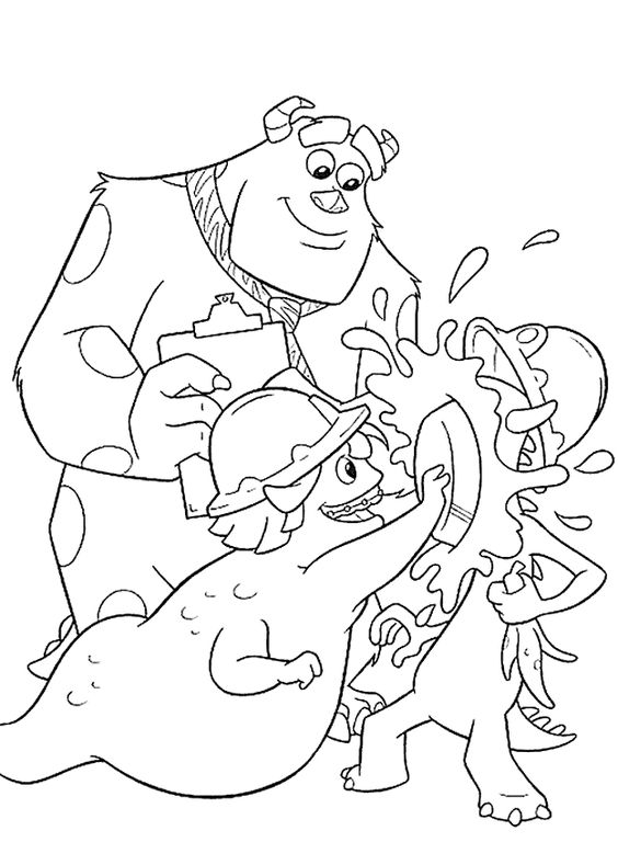 Monsters Inc Coloring Pages | Disney Coloring Pages | Pinterest ...