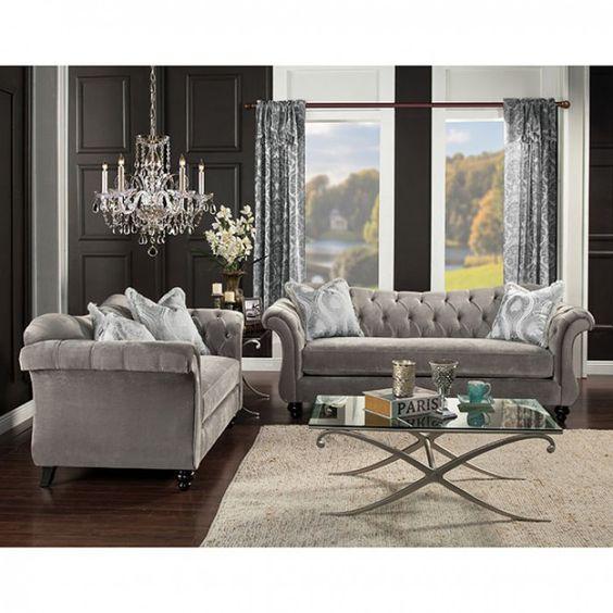 Furniture Of America,Antoinette Sofa SM2225 – Magnifique Furniture